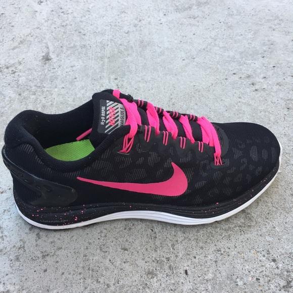 finest selection 2742a f9a67 Nike lunarglide 5 H2O repel leopard pink blck shoe.  M 5b529934d6716a7486c0eb04